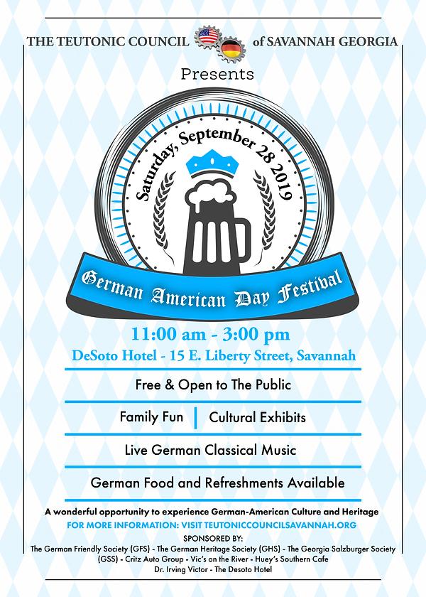 Teutonic Council German American Day Pos
