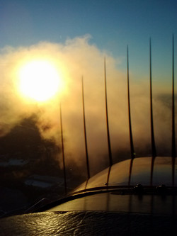 Sunset and N9895V