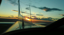 Over Tekoa, Wa. Heading home.
