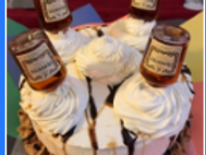 Hennessy Cake with Sample Sizes of Hennessy