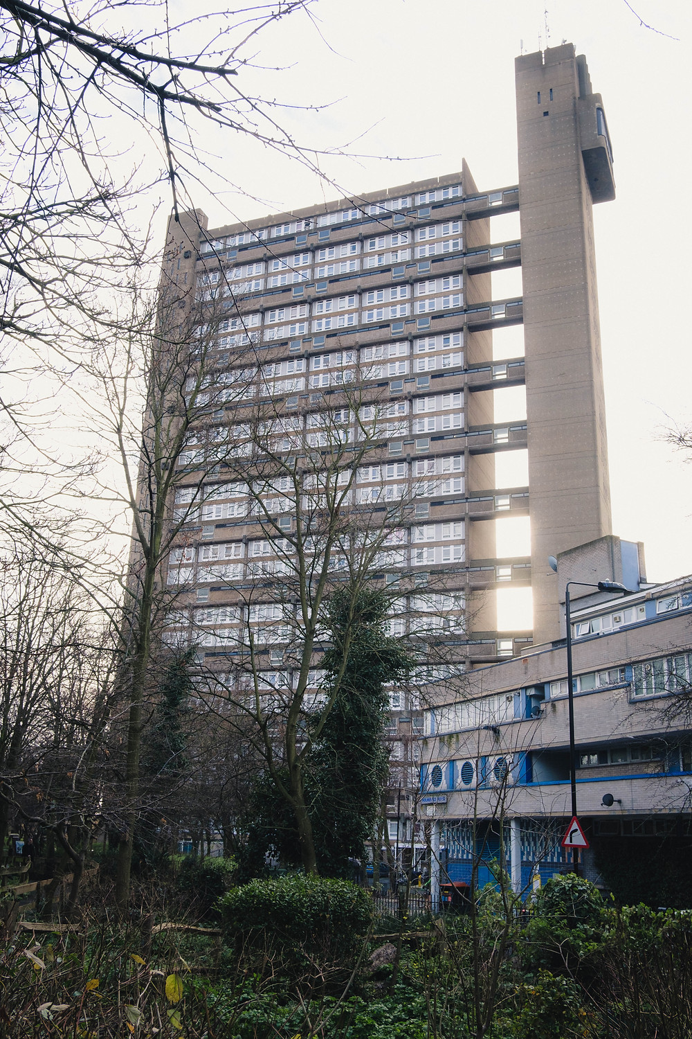 Photograph of the Meanwhile Garden West London and Trellick Tower