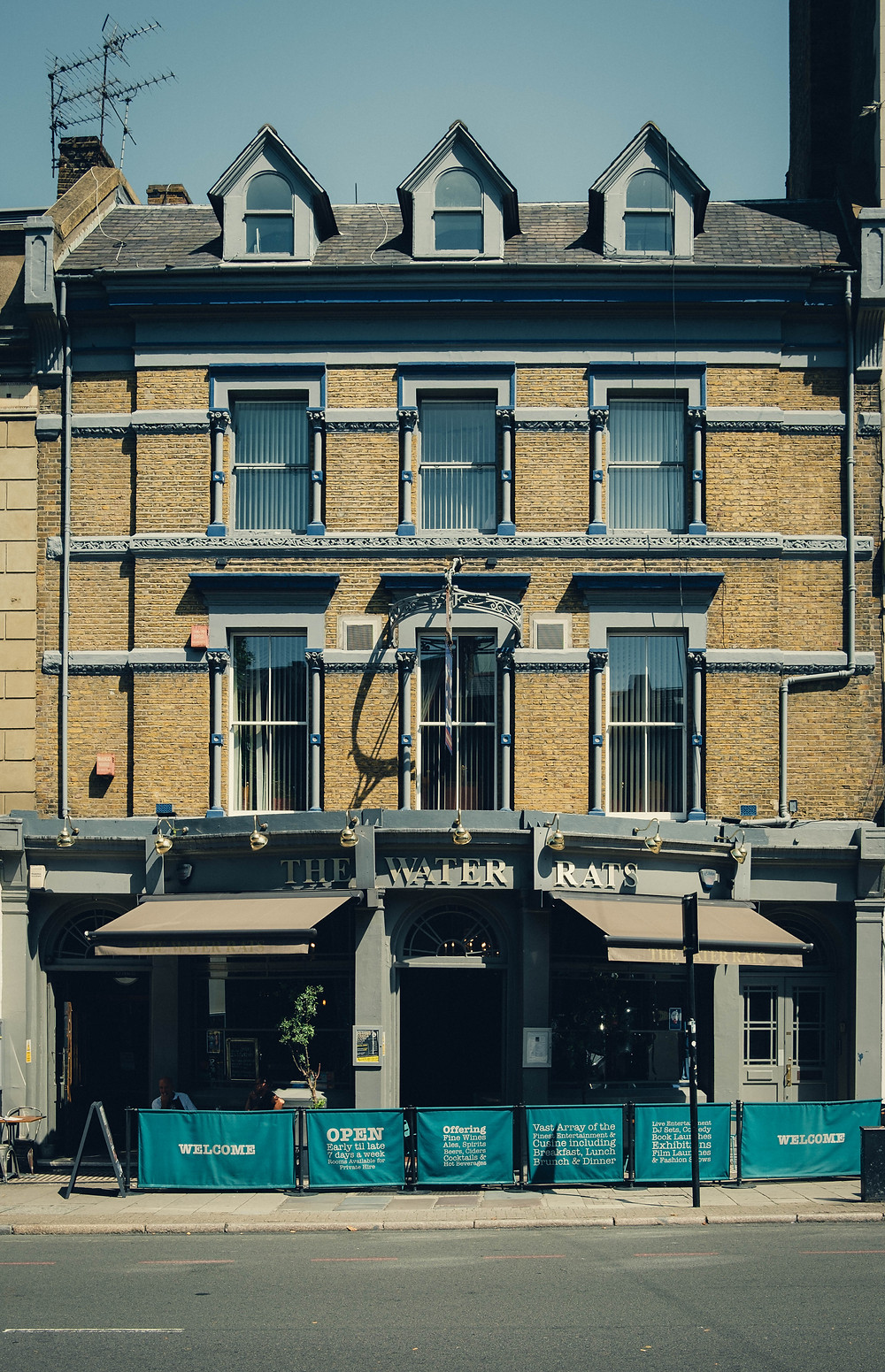 A photograph of The Water Rats pub