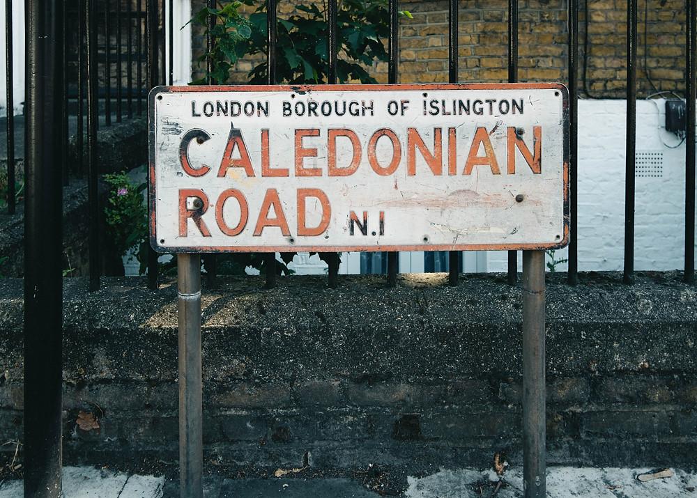 Caledonia Road sign