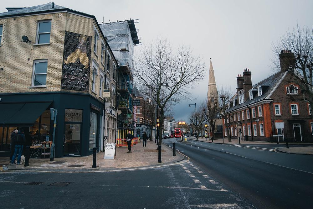 Ghost sign advertising custard in Clapham