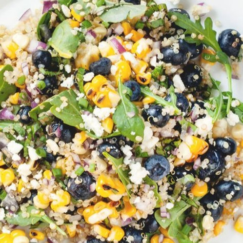 Quinoa Salad w. Blueberry + Corn