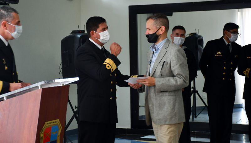 La Armada Nacional de Colombia reconoce a Jorge Eliécer Luna Sánchez, director de Eko Planet y Eko Bojacá
