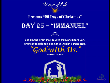 25 Days of Christmas - Day 25 - Immanuel