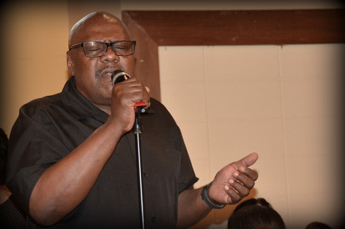 """Lead singer for New York Sweet at """"An Evening of Praise"""""""