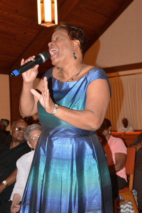 "Dorothy Carter at ""An Evening of Praise"""