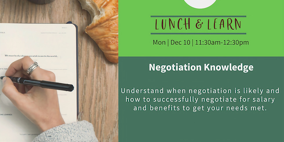 Lunch & Learn: Negotiation Knowledge
