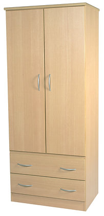 "2ft 6"" 2 Drawer Robe"