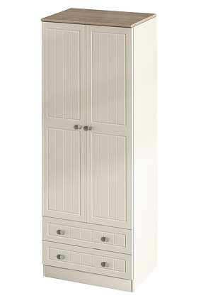 "Tall 2ft 6"" 2 Drawer Robe"