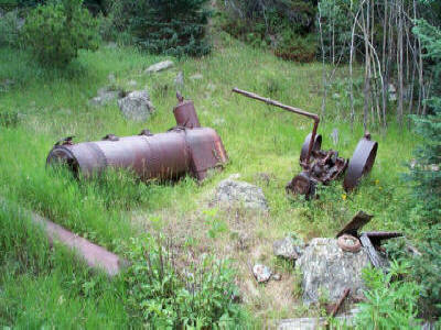 Sawmill boiler along Miller Creek Trail