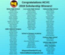 2019 Congratulations HCVC Scholarship Wi