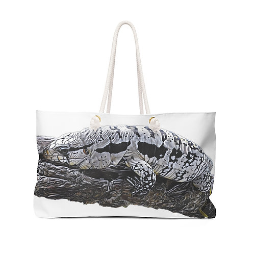 Blizzard Blue Tegu Weekender Bag For Sale, Tegu, Lizard, Tegu World