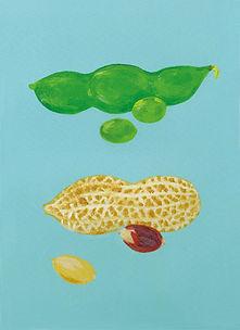 枝豆と落花生