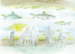葛西臨海水族園のスケッチ