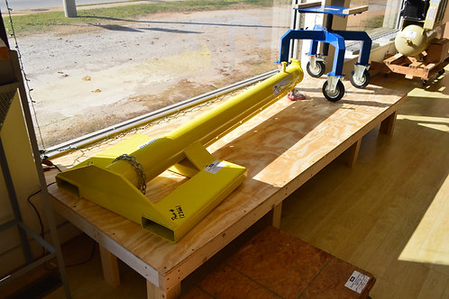 Weha yellow forklift boom