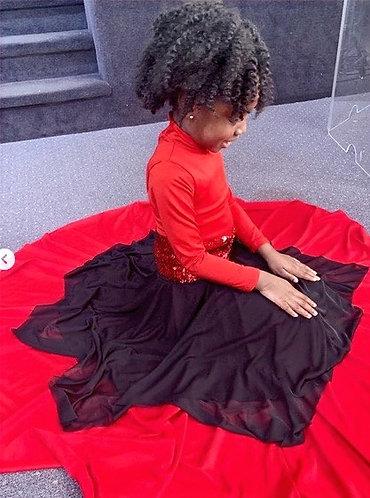 Kids Uneven Hem Double Layer Chiffon skirt
