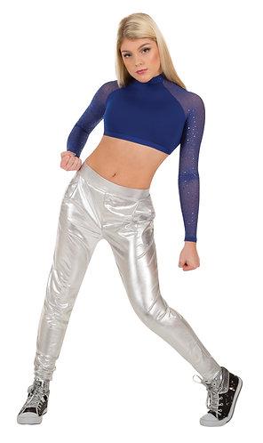 Slim Fit Metallic Harem Pant