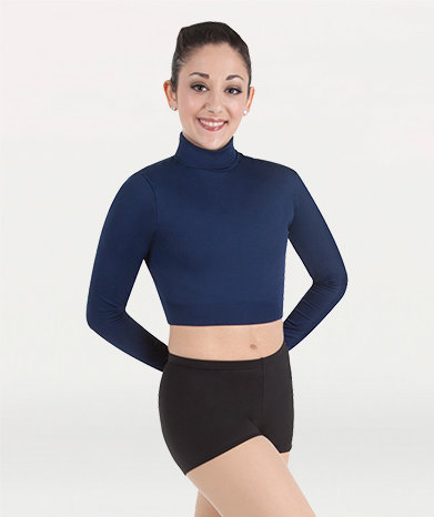 Long Sleeve Turtleneck Midriff Pullover