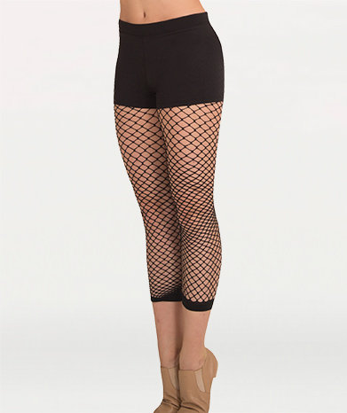 TotalSTRETCH® Crop Fishnet Tights
