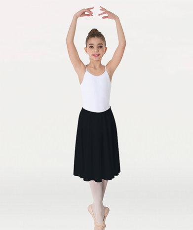 Matte Finish Above-The-Knee Circle Skirt