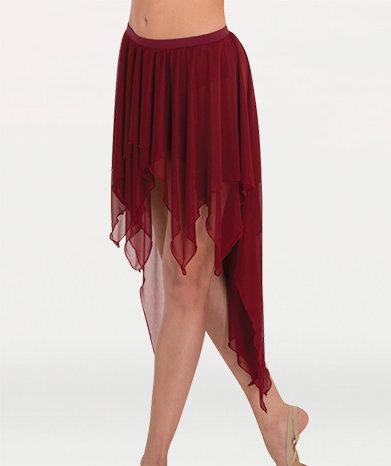 Drapey Hi-Lo Chiffon Skirt