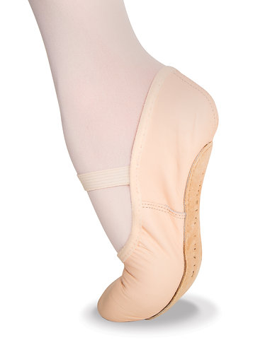 Body Wrapper Adult Tiler Full Sole Leather Pleated Ballet Slipper- 201