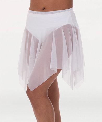 Power Mesh Handkerchief Hem Skirt