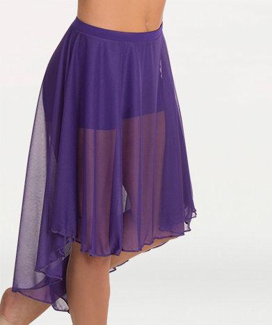 Knee Length Chiffon Skirt
