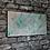 Thumbnail: Pink/Silver/Green resin canvas art