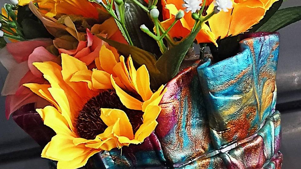 Free Form Vase & Sunflowers