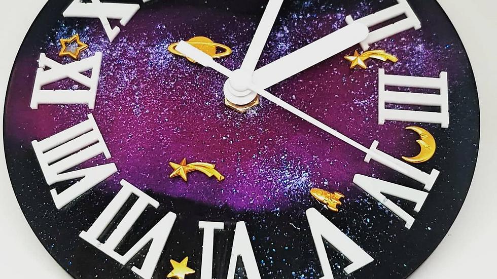 Galaxy 3d resin clock