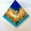 Thumbnail: Large resin pyramid / beach inspired / layered / paperweight