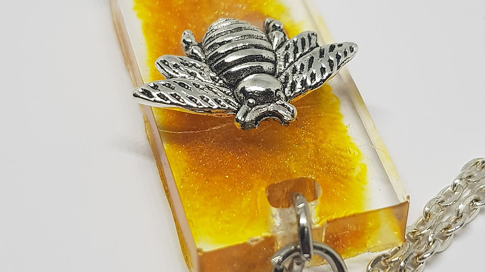 Yellow Bee Necklace
