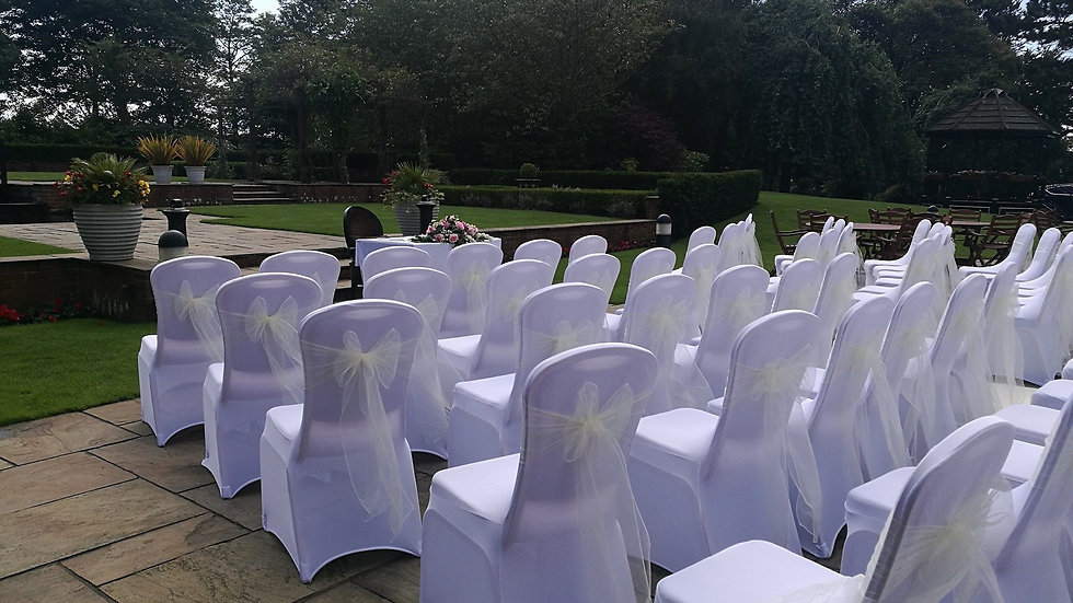 FOR SALE Ivory organza sashes