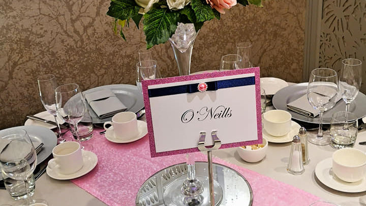 FOR SALE Pink sequin table runner