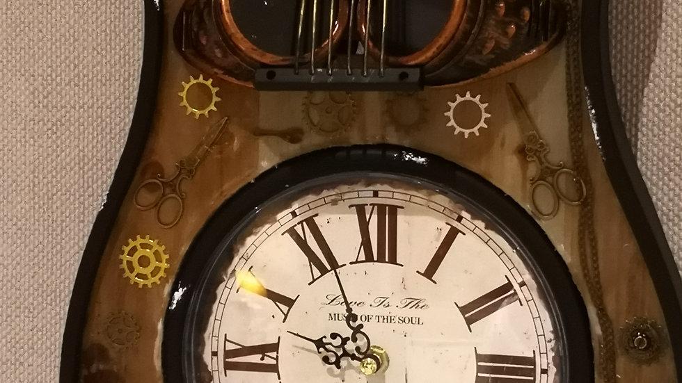 SteamPunk Guitar Clock