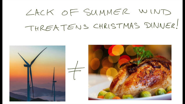 Video bite #3.2 Lack of summer wind threatens Christmas dinner?