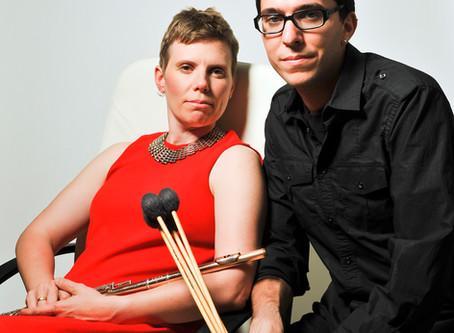 "Lawler+Fadoul: A flute/marimba duo with ""rock star sensibilities"" on tour. U Mass Amherst"