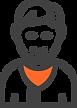 Ícone de um homem representando um usuário que acabou de assinar o software odontológico da Clinicorp