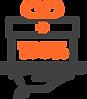 Ícone de uma caixa de presente com o símbolo de desconto ao centro, representando os benefícios do programa de indicação do software odontológico da Clinicorp