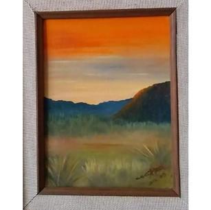 """ANDREA ORTIZ CRUZ. """"De tarde"""" Óleo sobre lienzo. Me gusta pintar paisajes, me siento parte de la familia de mi abuelo y lo recuerdo."""