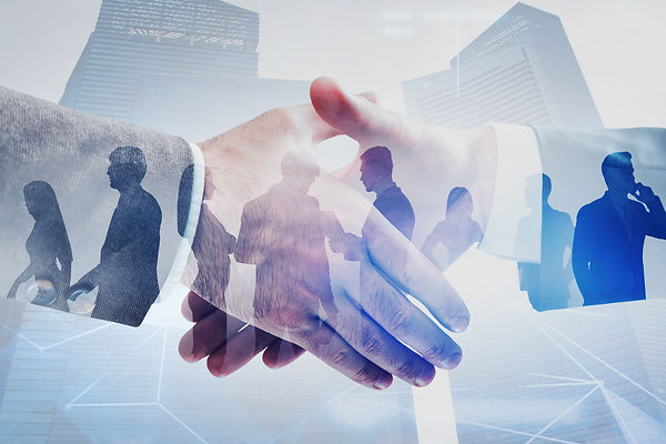 Close up of two businessmen shaking hand