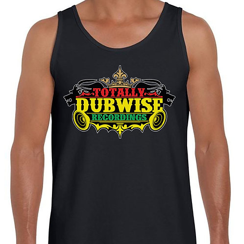 Totally Dubwise Recordings Mens Vest (Tri Colour Logo)
