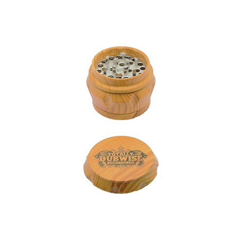 Totally Dubwise Recordings 50mm 4 Part Ceramic Coated Wood Effect Grinder