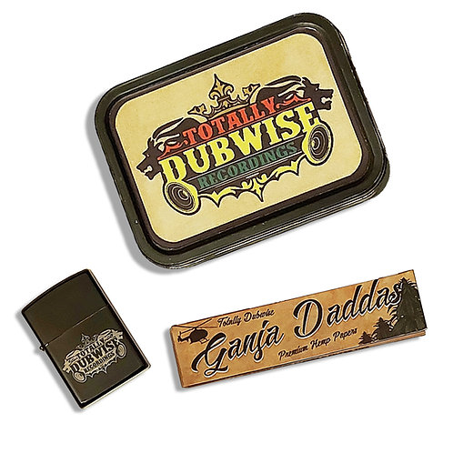 Totally Dubwise Recordings 2 oz Rolling Tin & Petrol Lighter Set (11 x 8cm)