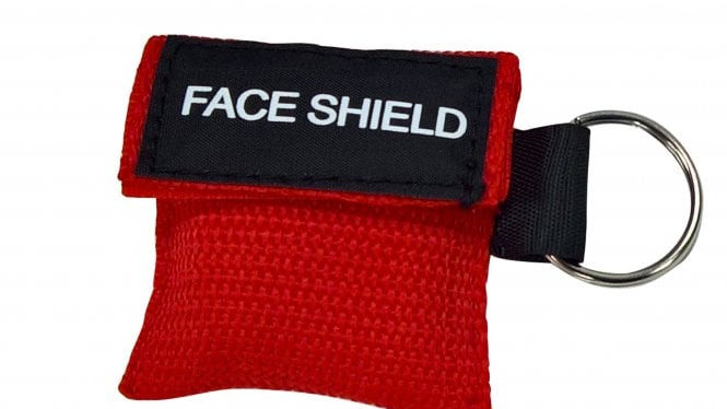 CPR/ First Aid Face Shield key ring