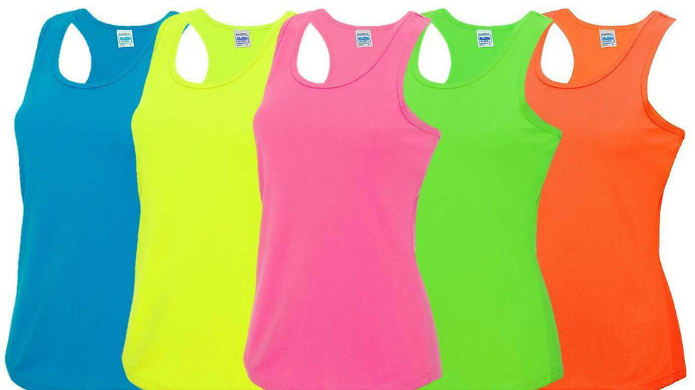 Ladies Racer Back Neon Breathable Sports Vest